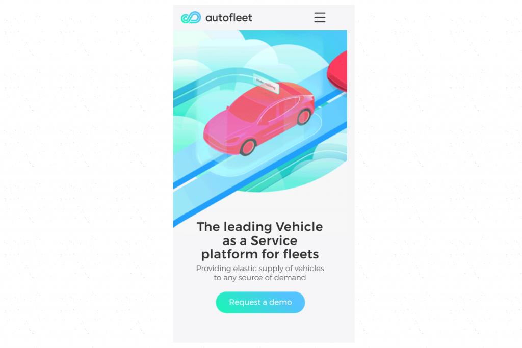 Thiết kế web mobile Autofleet