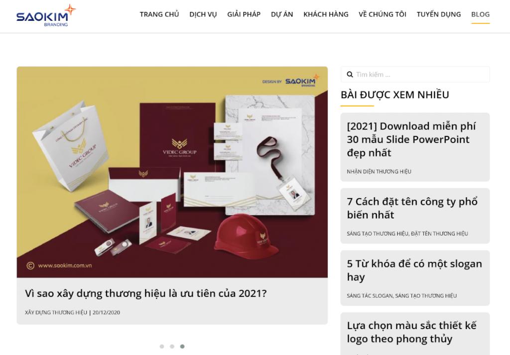 Blog thiết kế web
