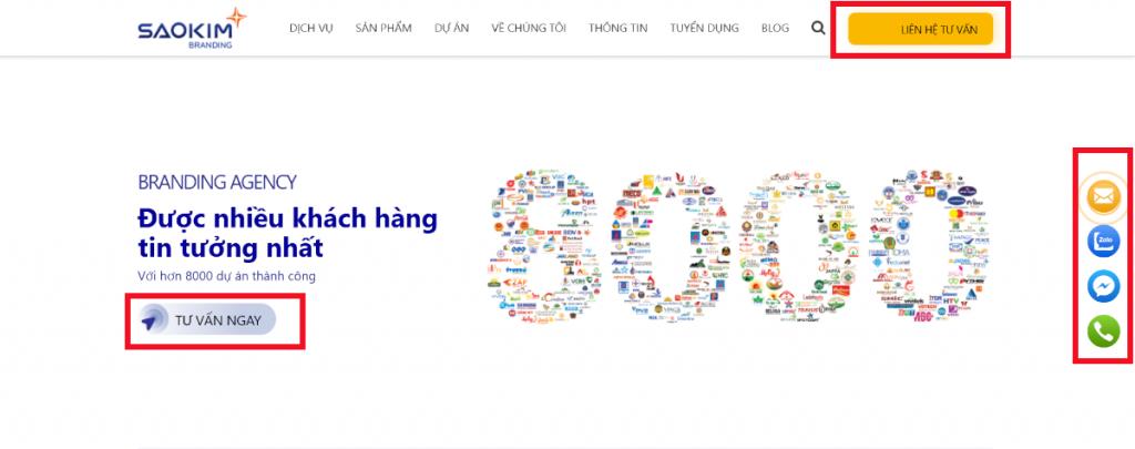 Lời kêu gọi hành động (CTA) thiết kế web