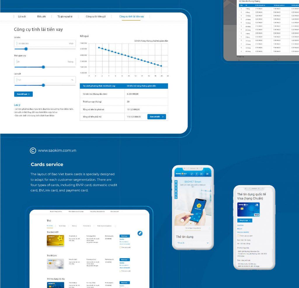 Dự án Website Bảo Việt Bank được kiểm tra kỹ lưỡng trên nhiều thiết bị, nhiều kích thước màn hình