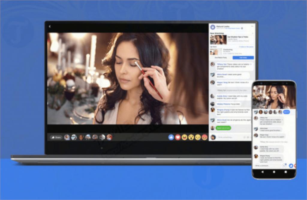 Facebook Watch Party để hiện thị video công khai