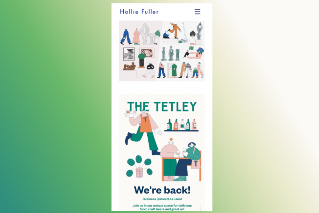 Thiết kế web mobile Hollie Fuller