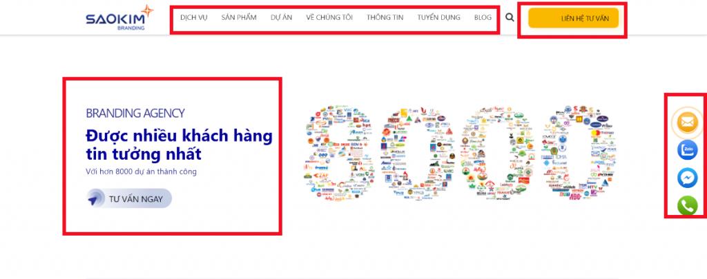 Nội dung thiết kế web