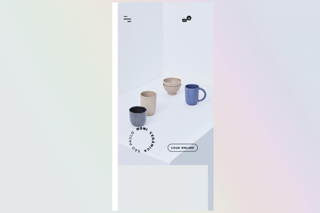 Thiết kế web mobile Noni Ceramica