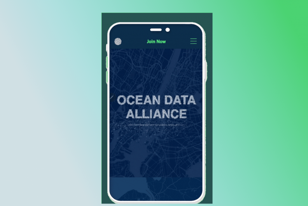 Thiết kế web mobile Ocean Data Alliance
