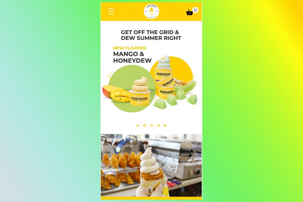 Thiết kế web mobile Somisomi