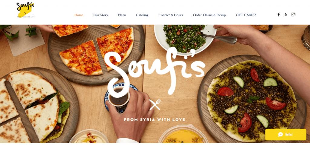 Soufi's thiết kế web nhà hàng