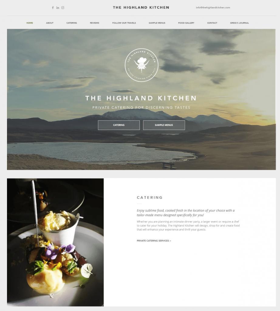 The Highland kitchen thiết kế web nhà hàng