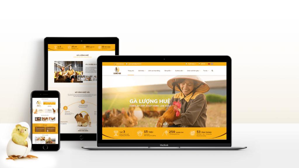 Trang web được thiết kế trọn gói với ý định rõ ràng từ đầu