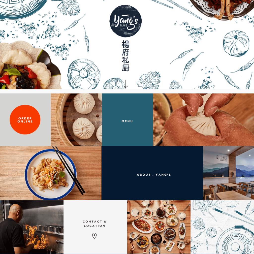 Yang's Place thiết kế web nhà hàng