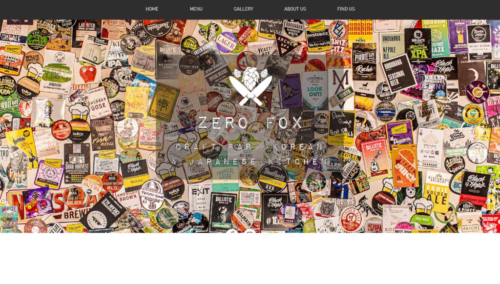 Zero Fox thiết kế web nhà hàng